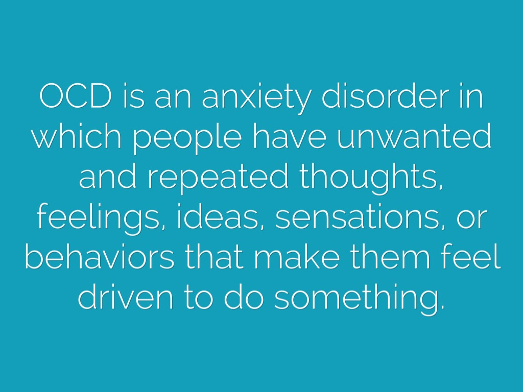 a description of the behavioral disorder ocd The clinical definition of ocd goes into great detail of the characteristics of the compulsions and obsessions typically associated with this disorder.