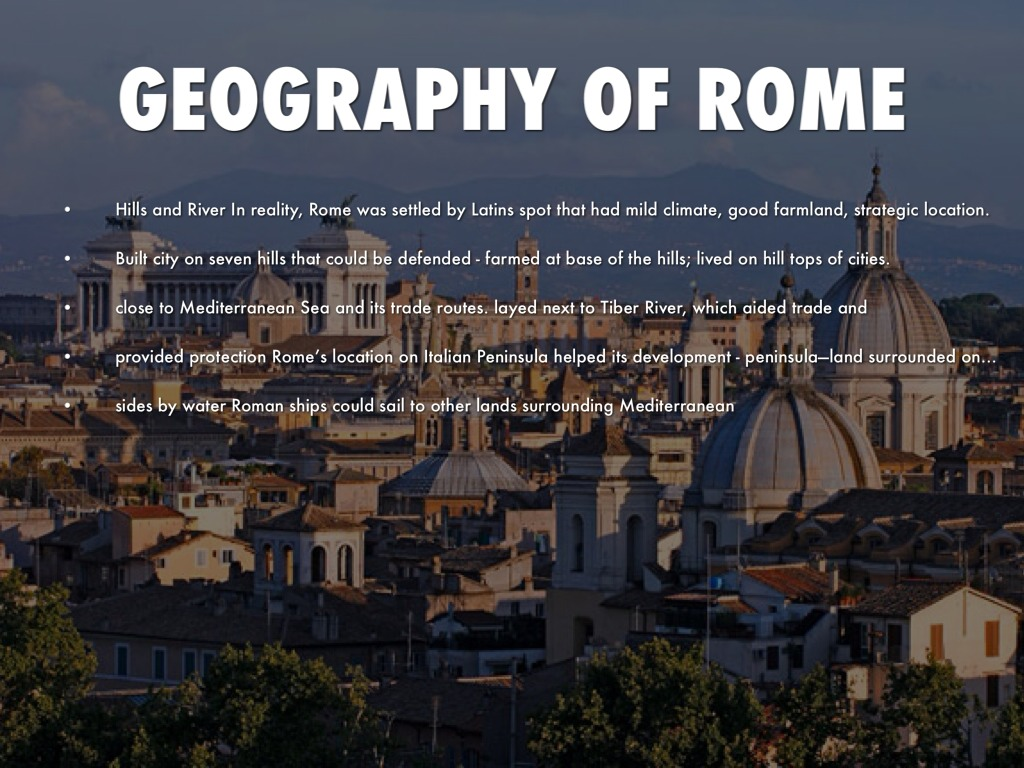The Origins Of Rome By Robert Burgos - Geography of rome