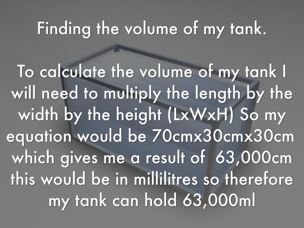 Fish tank volume calculator cm for Fish tank volume calculator