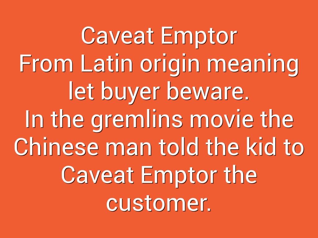 caveat emptor who said latin
