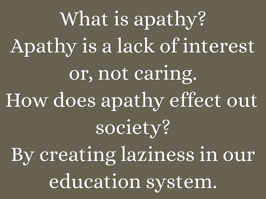 What is apathy 96