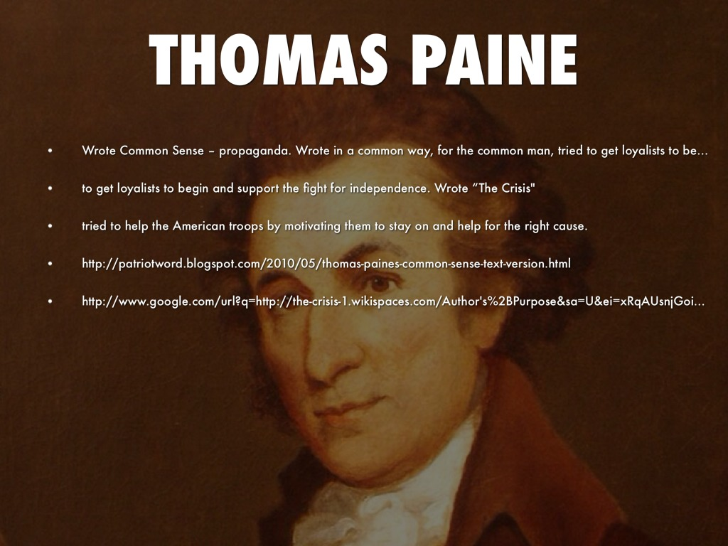 thomas paine s writings the american crisis and common sense propaganda