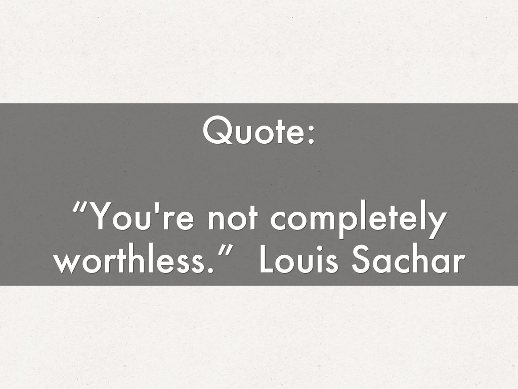 HOLES By: Louis Sachar Presentation By: Lucas