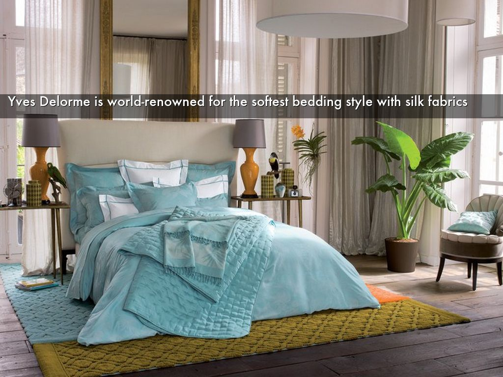 Yves Delorme is world-renowned for the softest bedding style with silk fabrics & Freshen up your bedroom with modern bedding home