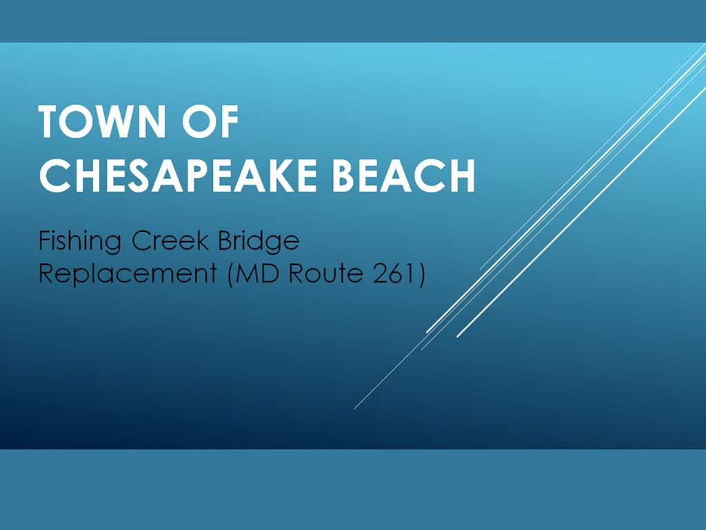 Fishing Creek (MD) Bridge Replacement Project, December 1, 2014
