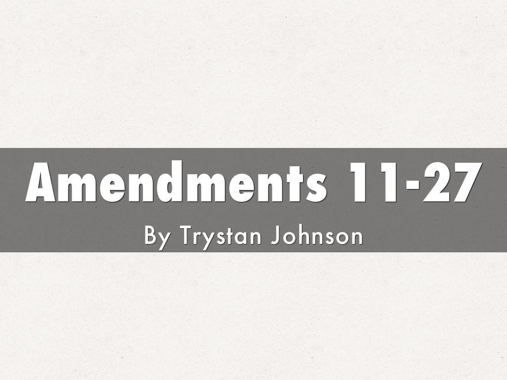amendments 11
