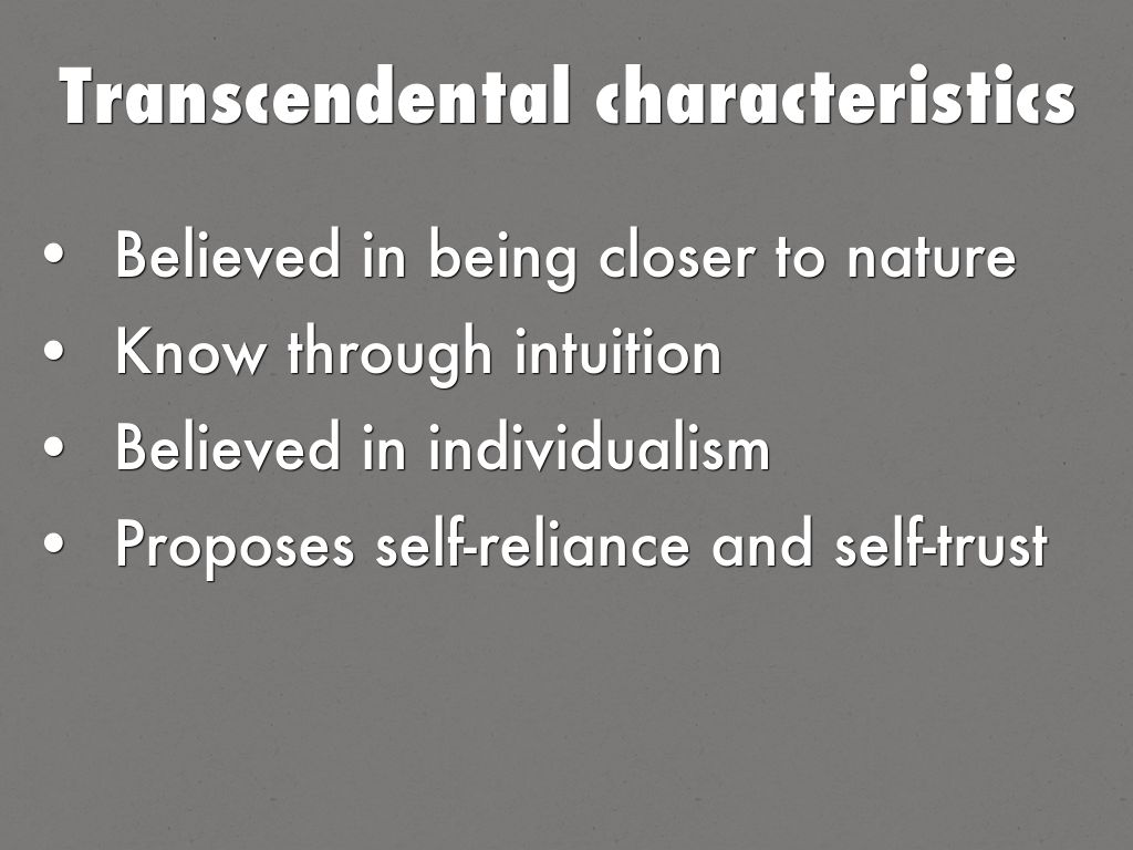 self reliance and transcendentalism and they relate modern Transcendentalists believed that society and social institutions, such as organized religion and political parties, corrupted the purity of individuals therefore, the guiding principle of transcendentalism, is the belief that people are at their best when they are self-reliant and independent.