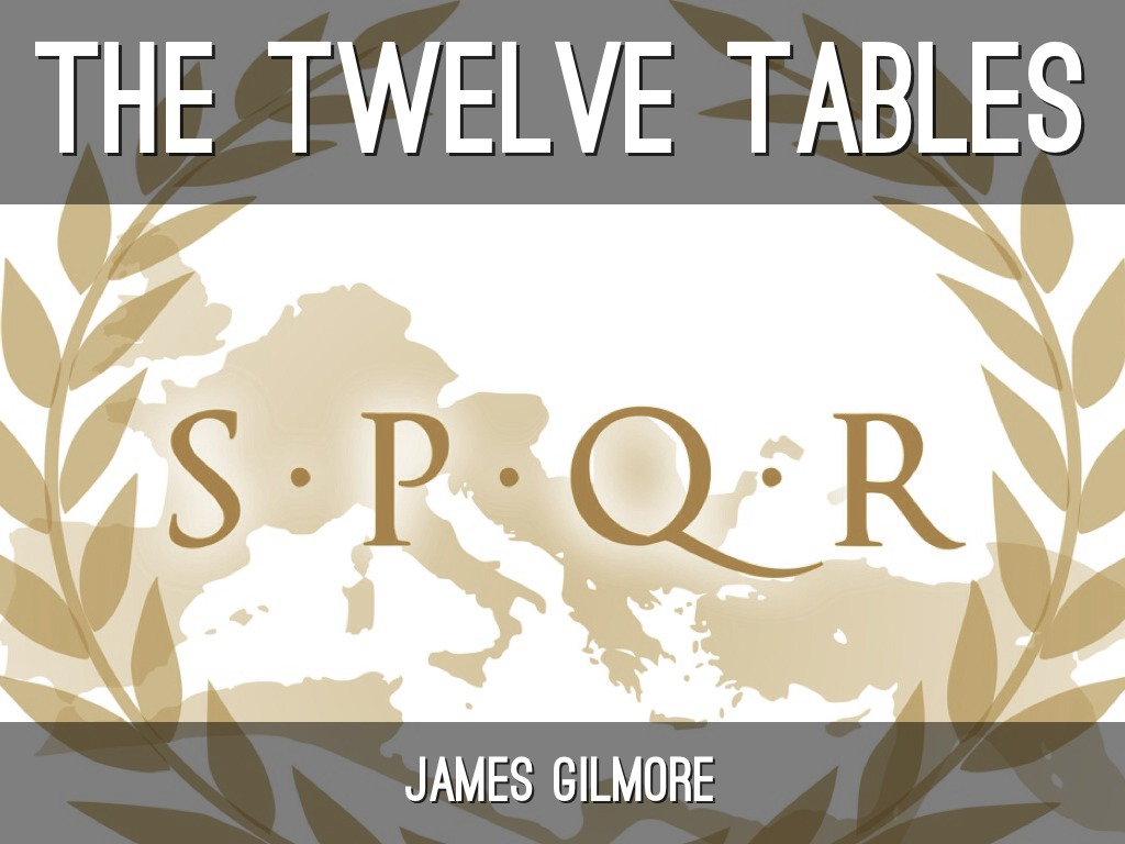 twelve tables Rome's law of the twelve tables is to be viewed as an important step in state  formation the trial of k quinctius is most likely fictitious and has probably been.