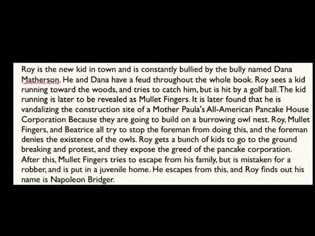 summary of the book hoot by carl hiaasen
