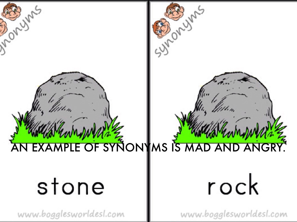 Worksheets Example Of Synonyms synonyms by 233215kaqu an example of is mad and angry