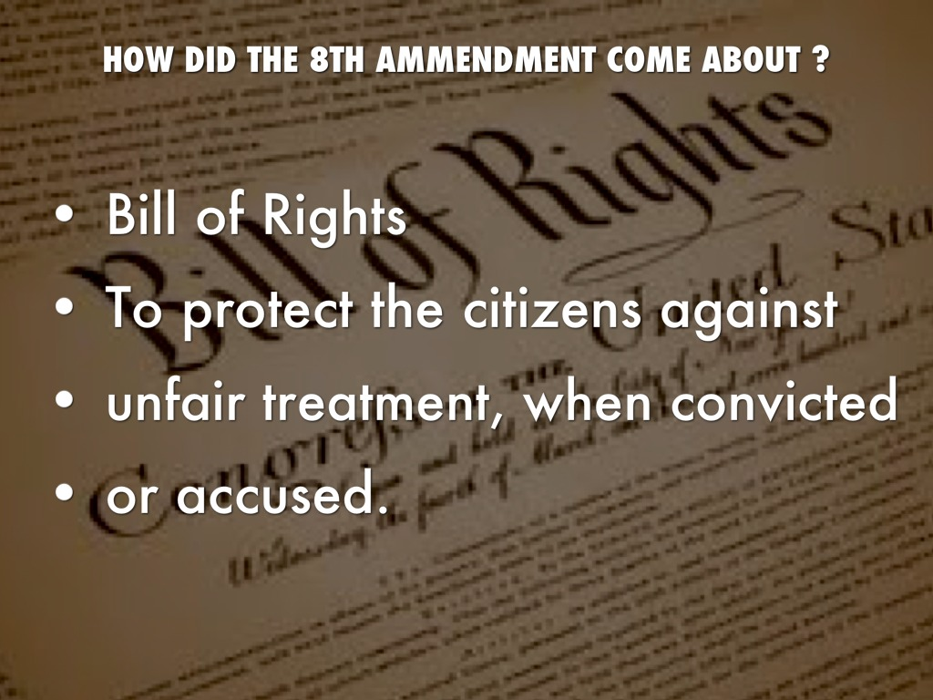 the 8th amendment Under the 8th amendment of the constitution of the us, cruel and unusual punishment is deemed illegal how do we define cruel and unusual, and how is the death penalty legal when a majority of countries in the world would deem it cruel and unusual.