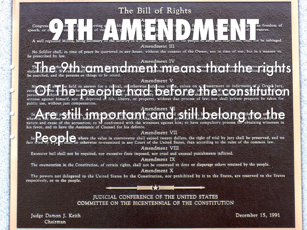 history of the 9th amendment