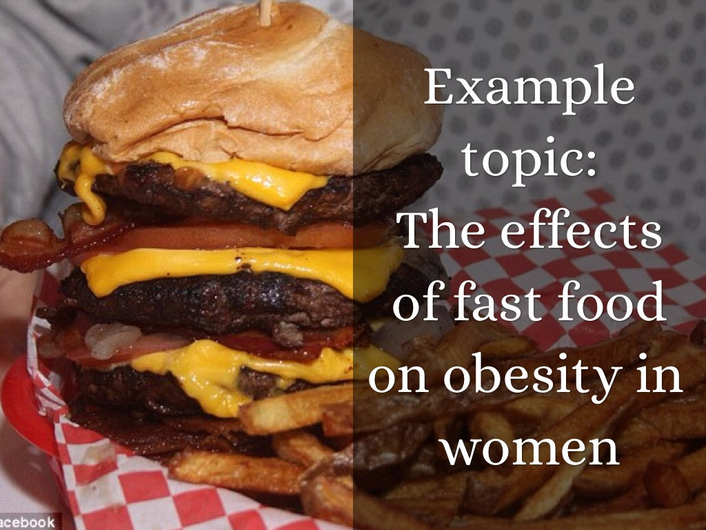 effects of fast food