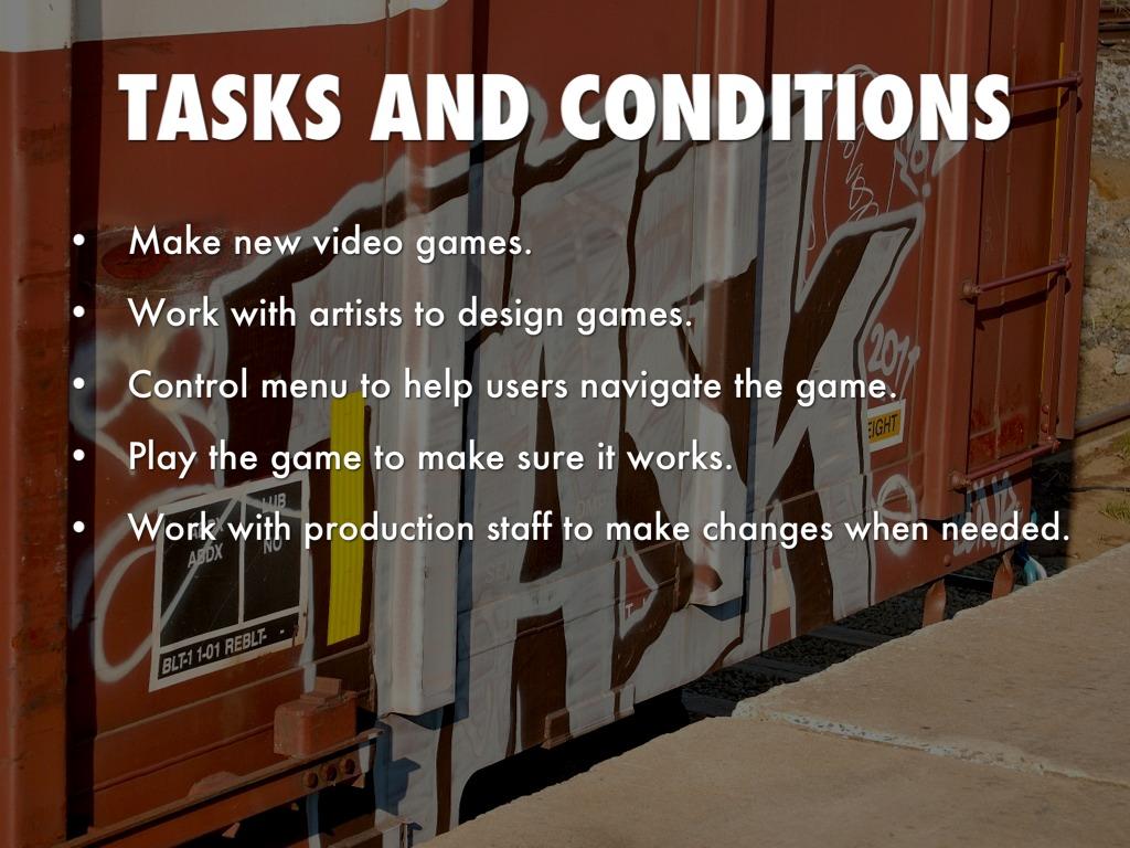 Video Game Designer By Wyatt K - Video game designer working conditions