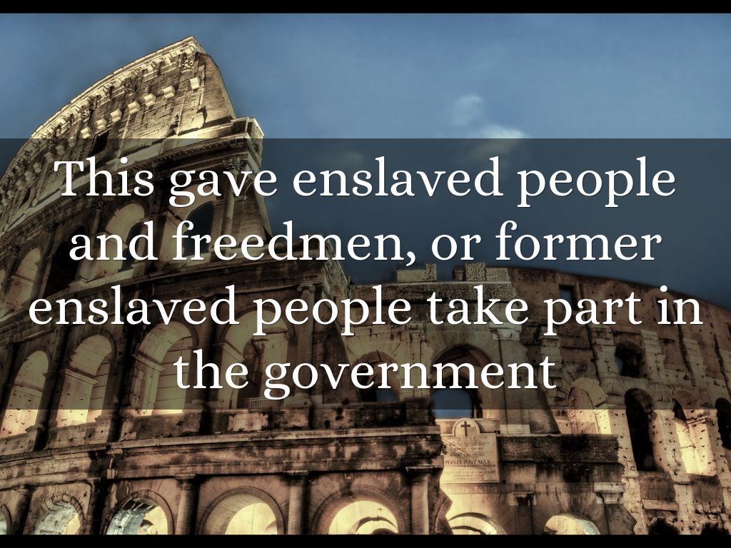 enslaved people