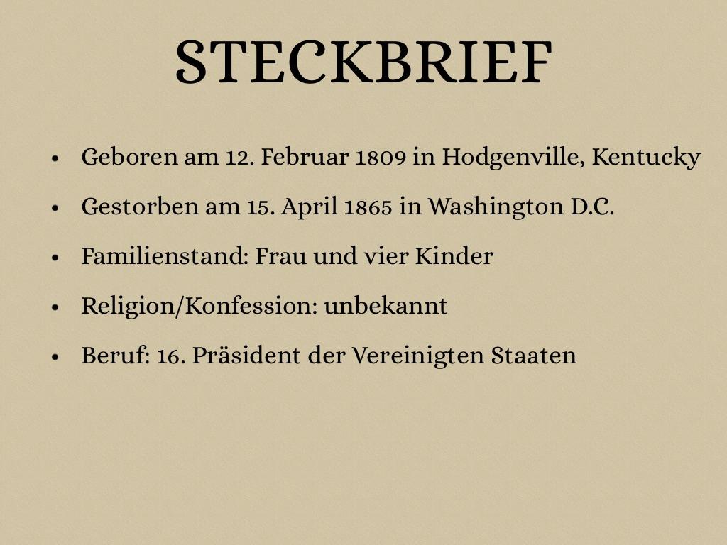 Abraham Steckbrief