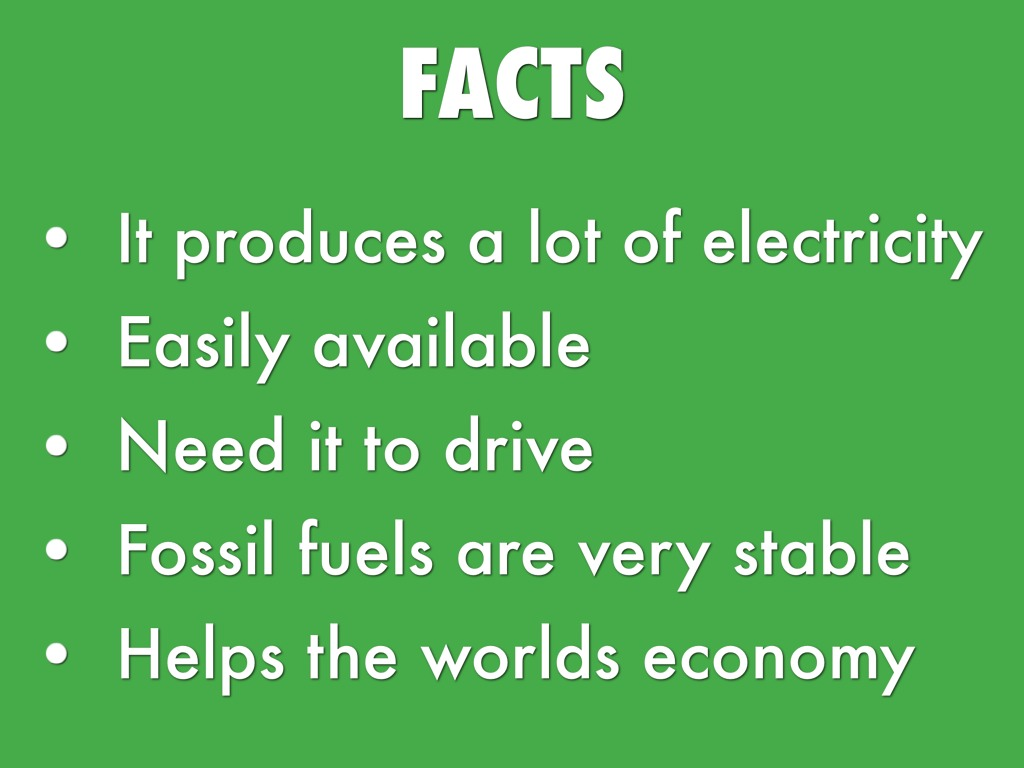 advantages of fossil fuels