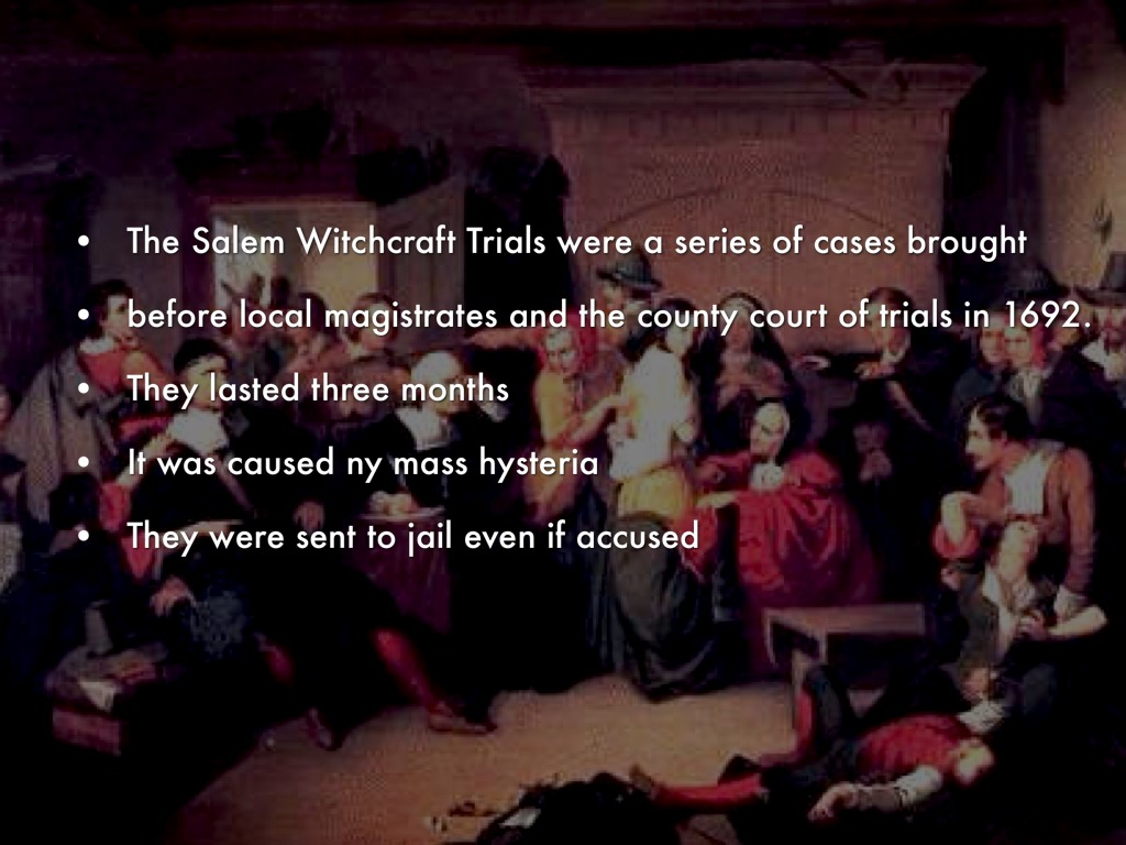 what caused the salem witch trial hysteria of 1692