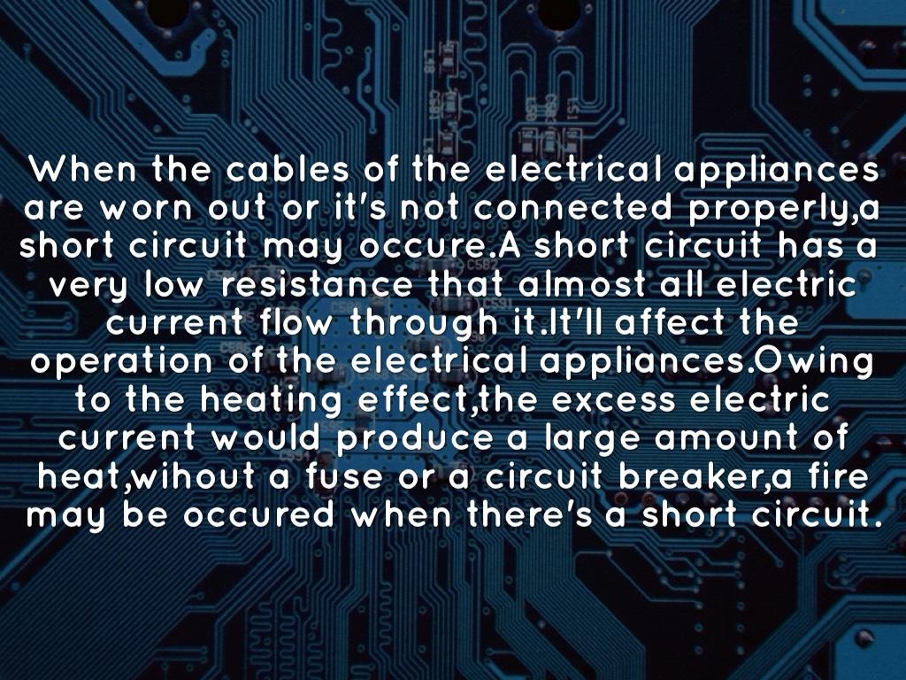 Et Activity By Luis Bulosan Short Circuit Appliances Why Does Happen
