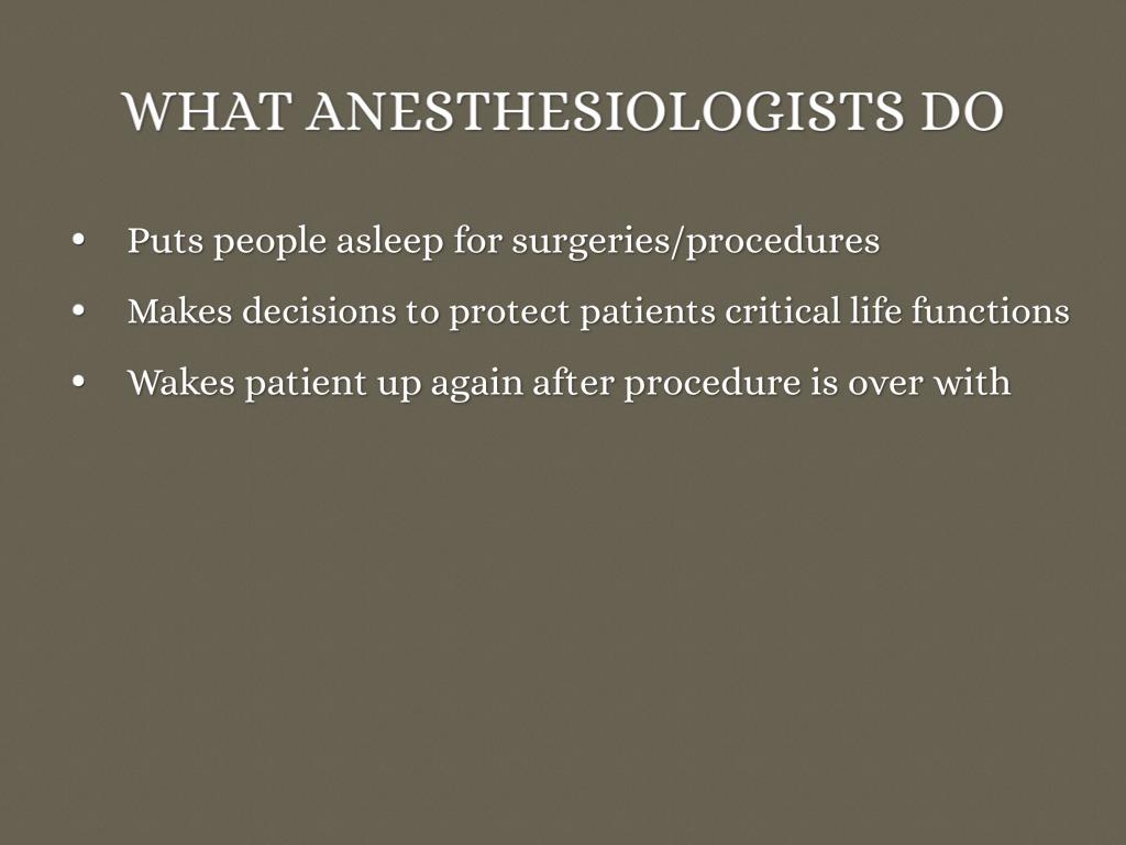 Anesthesiologist By Allison Gwinn