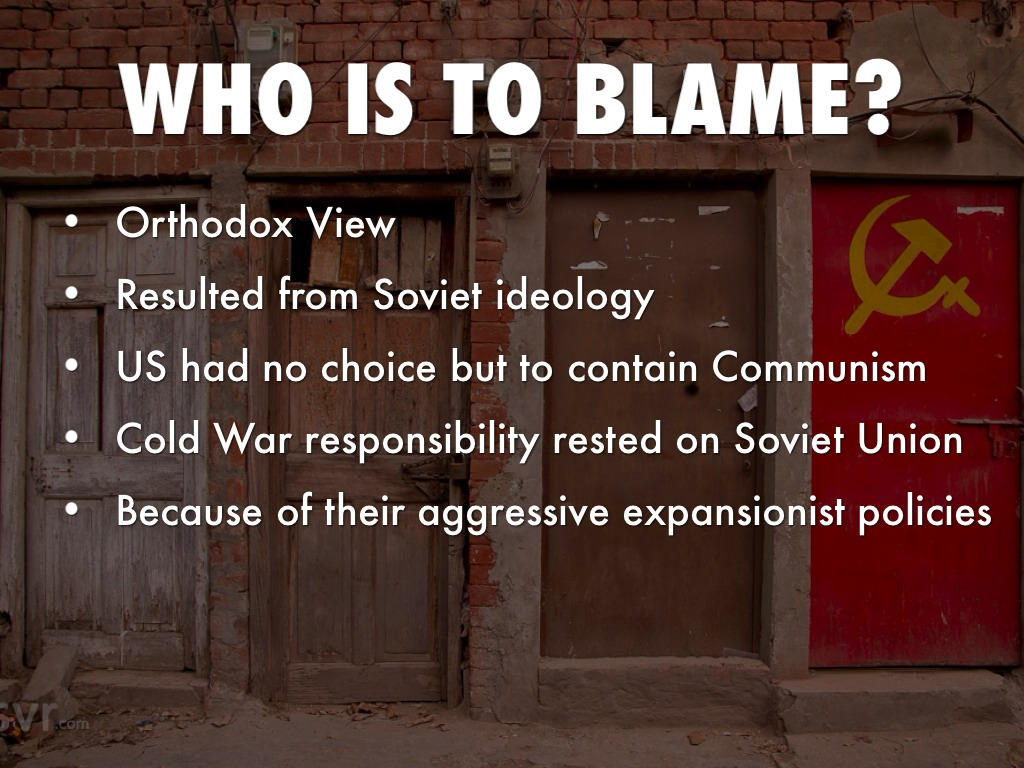 who was the blame for the cold war