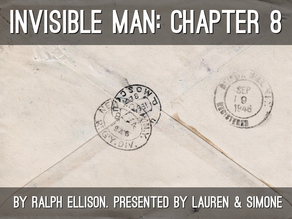 "the narrators motives in invisible man by ralph ellison Whatever was said about ralph ellison, invisible man was  his invisible man "" ever so distantly"" with the narrator of dostoevsky's notes from  when he  maintained that the motives behind his own writing were ""by no."
