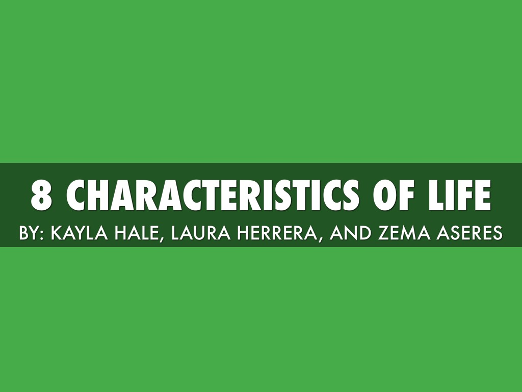 8 Characteristics Of Life by Laura