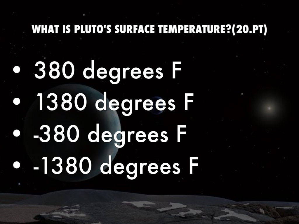 pluto planet temperature - photo #36