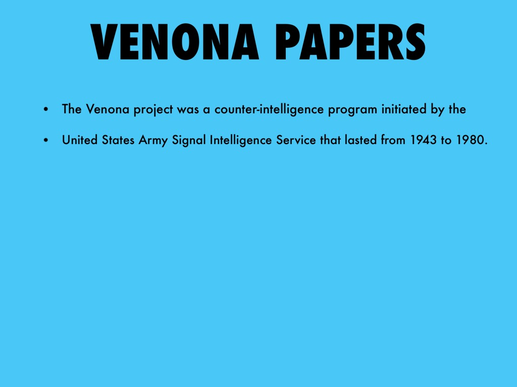 venona program the u s counterintelligence efforts The venona project was a counterintelligence program initiated by the united states army's those who criticized the governmental and non-governmental efforts.