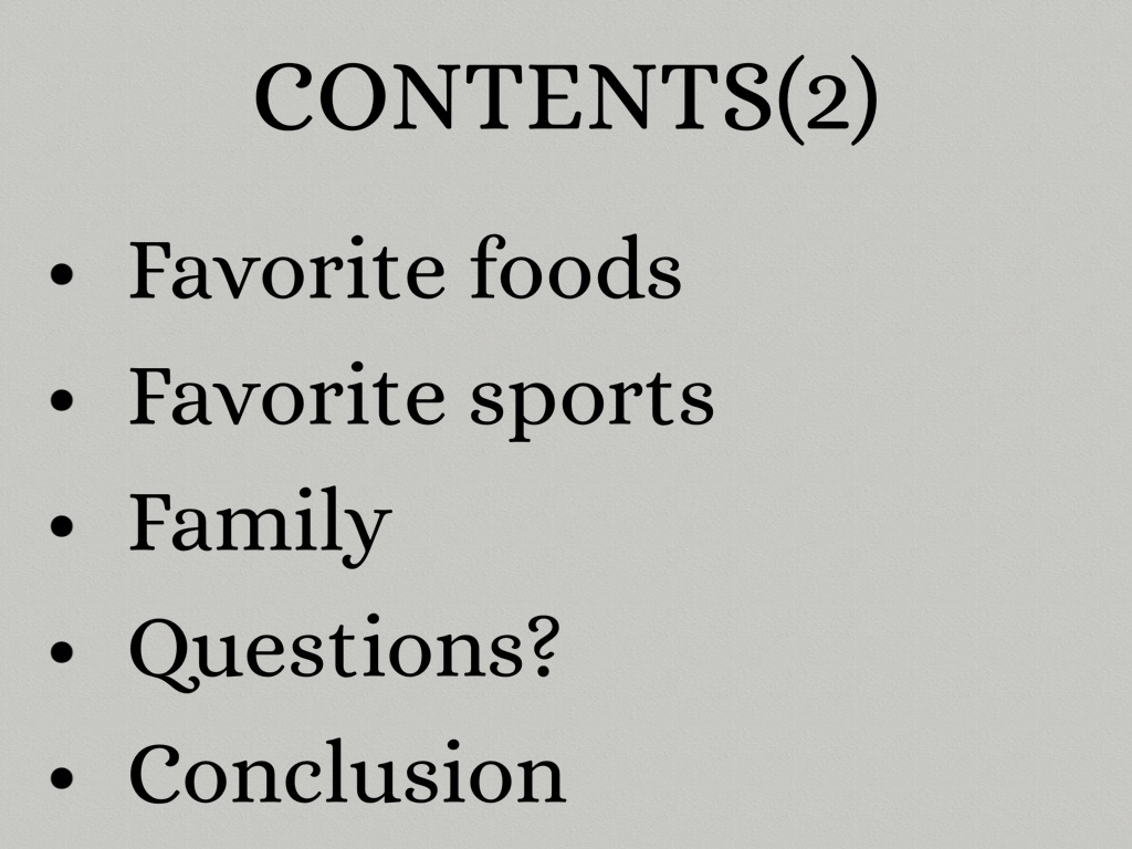 conclusion on favorite food My favorite is savory i like foods that i could sit and taste for a while and enjoy while being able to tell you how delicious essays related to my favorite foods.
