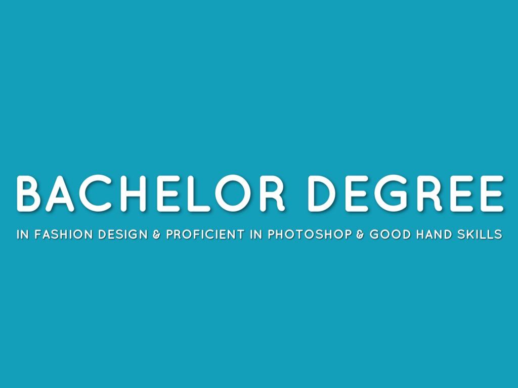Degree For Fashion Design
