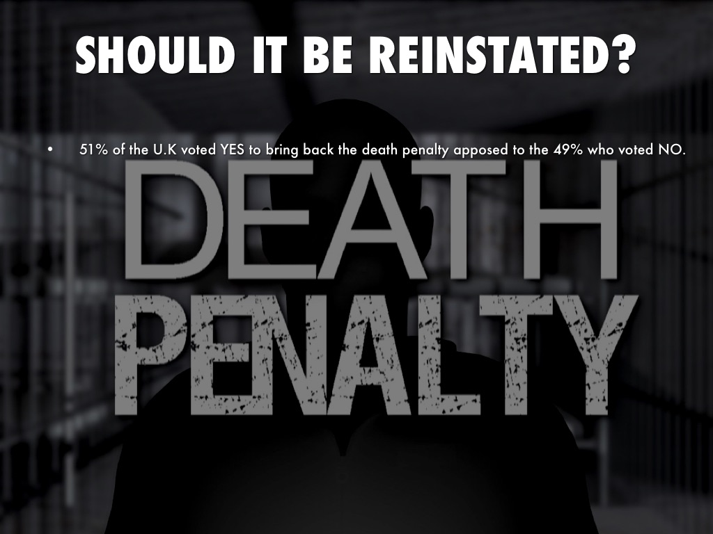 the death penalty keeping crime at bay California and capital punishment: why this blue state keeps 66 would be better than keeping the death penalty as-is may have of the bay area crime.