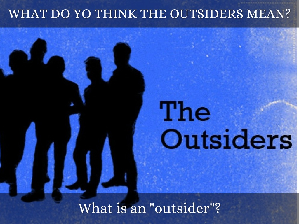 essay on the outsiders johnny Outsiders, johnny, darry, and ponyboy fight for something they believe in that brings purpose to their lives  essay) • each paragraph must contain the following pieces: • a topic sentence (topic refers back to thesis) • a quote, with page number • a concluding.