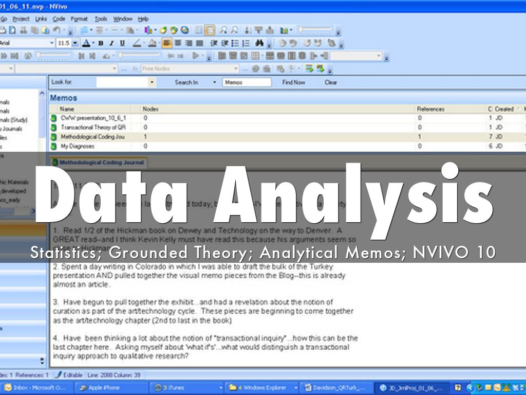 analytical memo