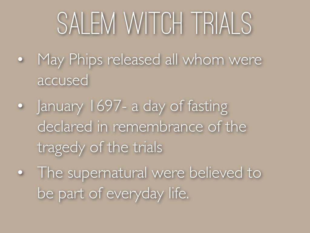 argumentative salem witch trials Salem witchcraft trials (1692) o christian martyr who for truth could die when all about thee owned the hideous lie the witchcraft trials in salem: an account.