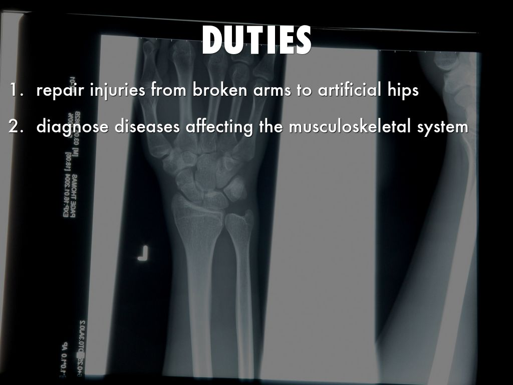 orthopedic job description