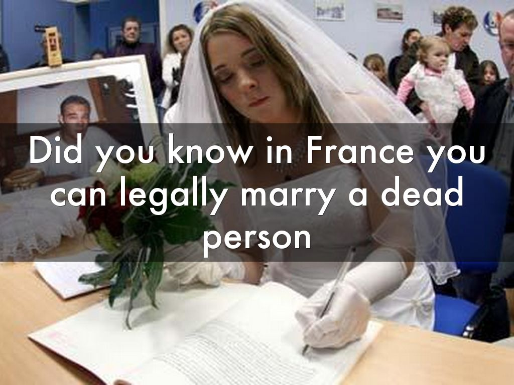 Can You Marry Food Legally