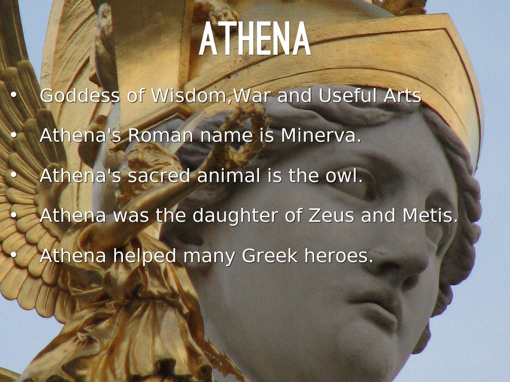 the story of athena the greek goddess of wisdom war and useful arts Athena: daughter of zeus greek goddess of wisdom, war, the arts, and more shown here predominantly with the owl, which was sacred to the goddess, and her s.