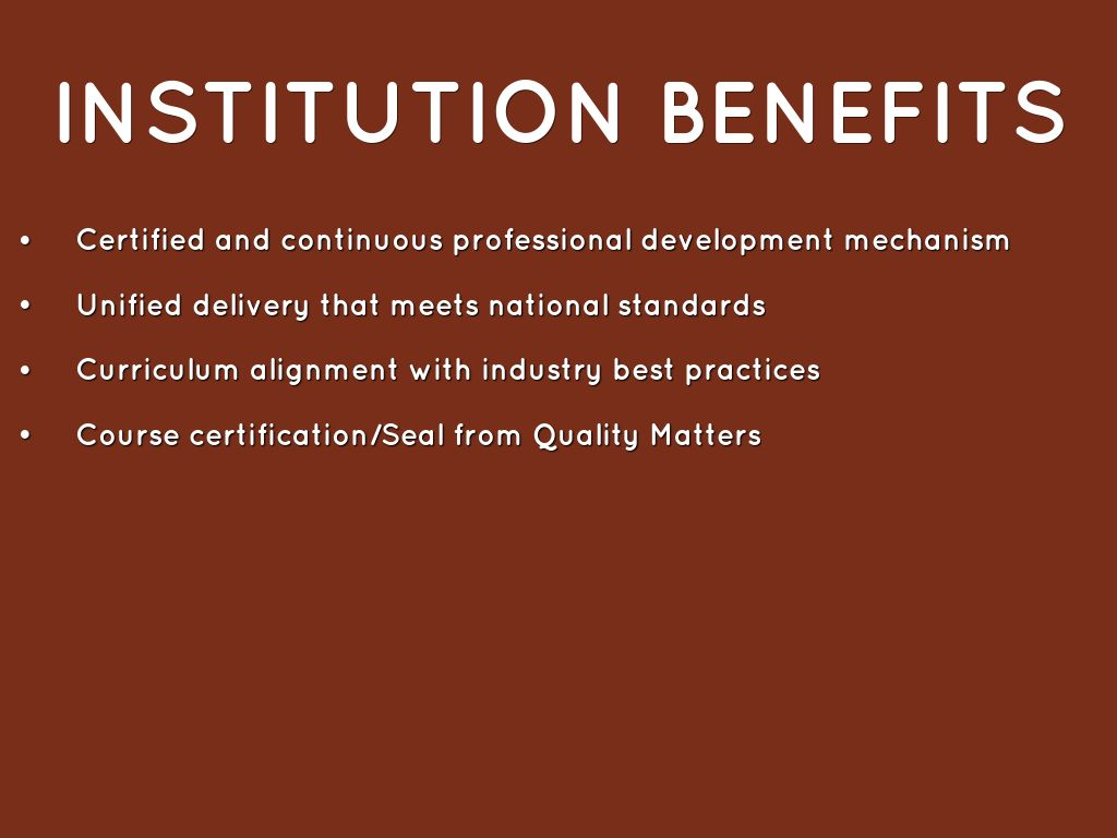 Quality matters by janice tisha samuels institution benefits certified 1betcityfo Images