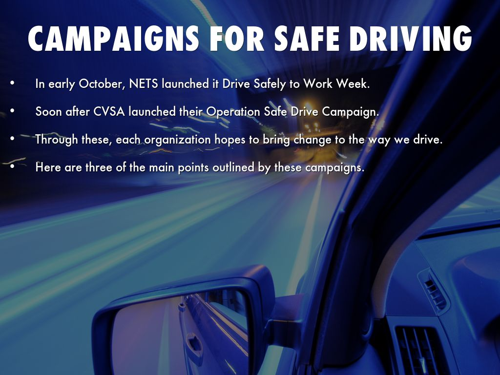 analysis of safe driving campaigns At&t's it can wait texting and driving campaign promotes no texting while driving learn more about at&t's campaign to curb texting and driving.