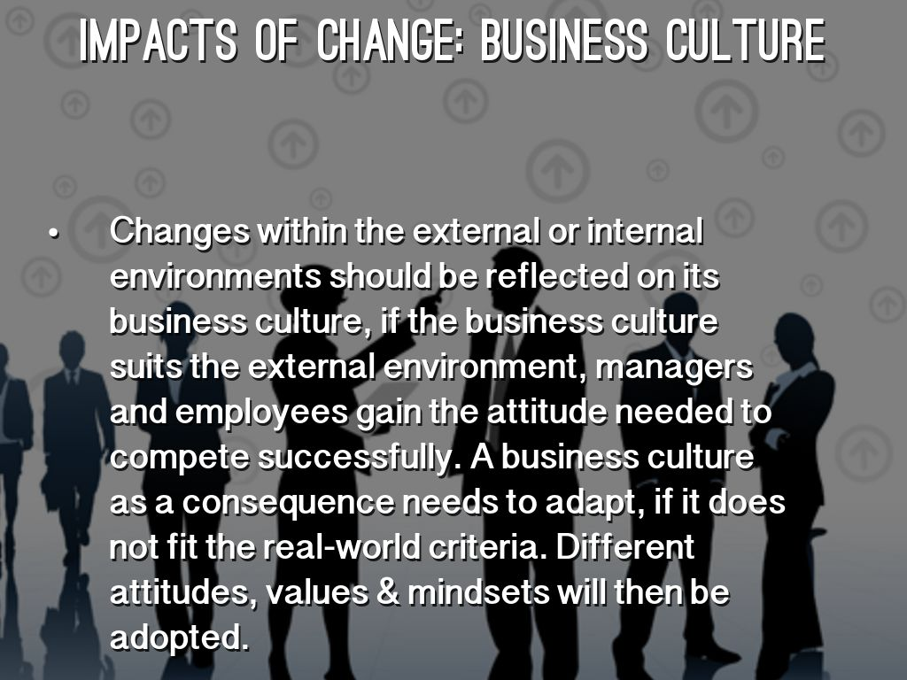 impact of increased business and culture Macro cultural considerations introduction organizations are facing increased global competition, economic uncertainties, and changing markets technology is changing the way we conduct business and manage information outsourcing of significant functions within businesses and organizations complicates the landscape of supplier relations.