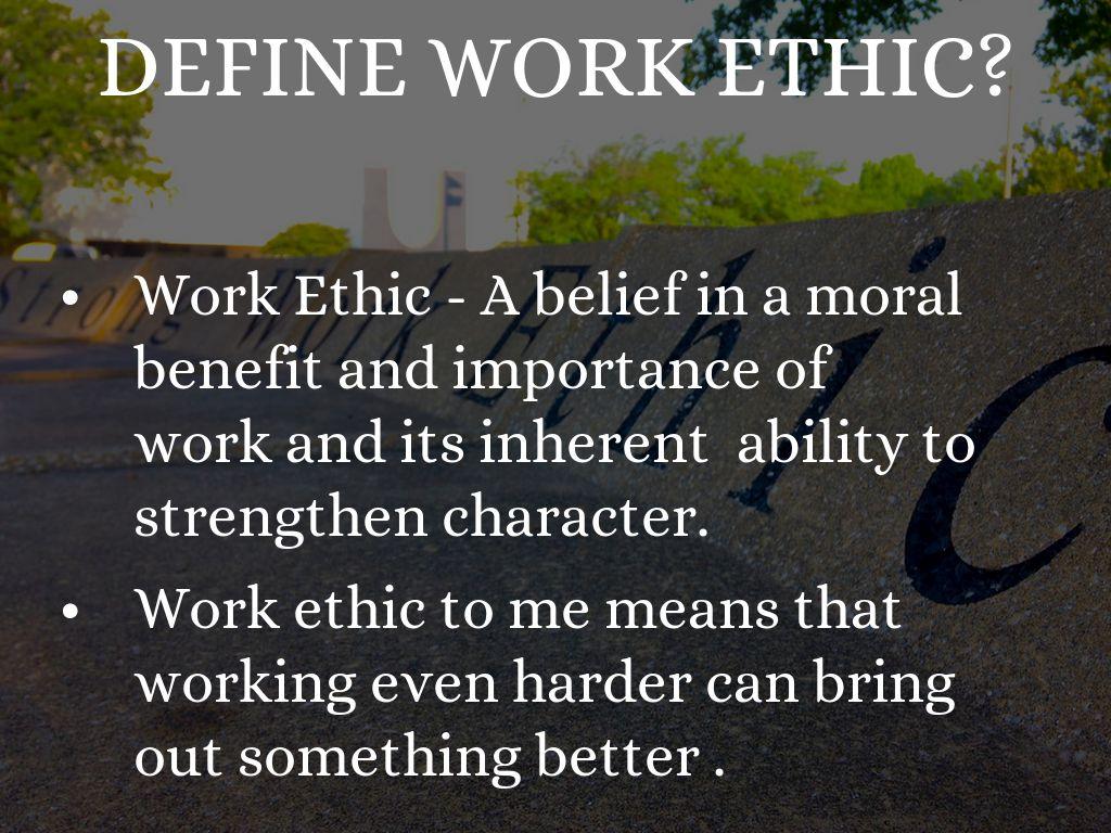 define work ethic