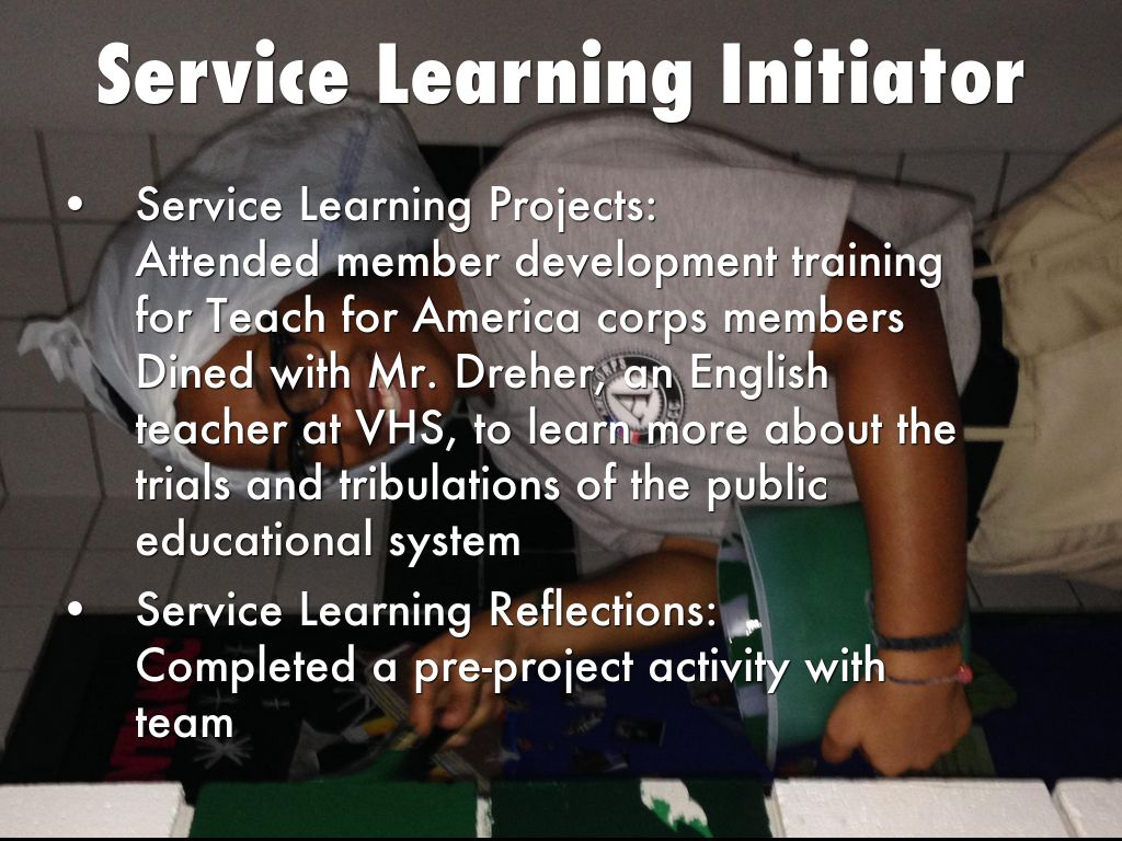 service learning project reflection