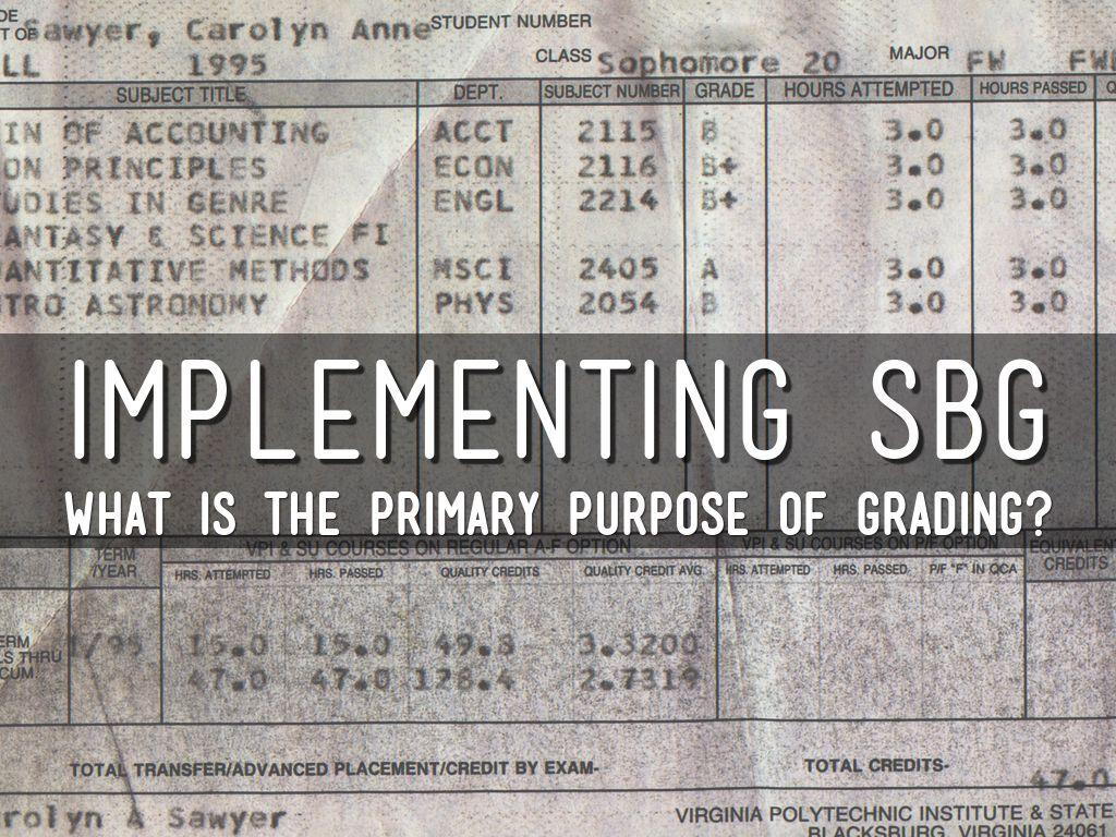 Implementing SBG