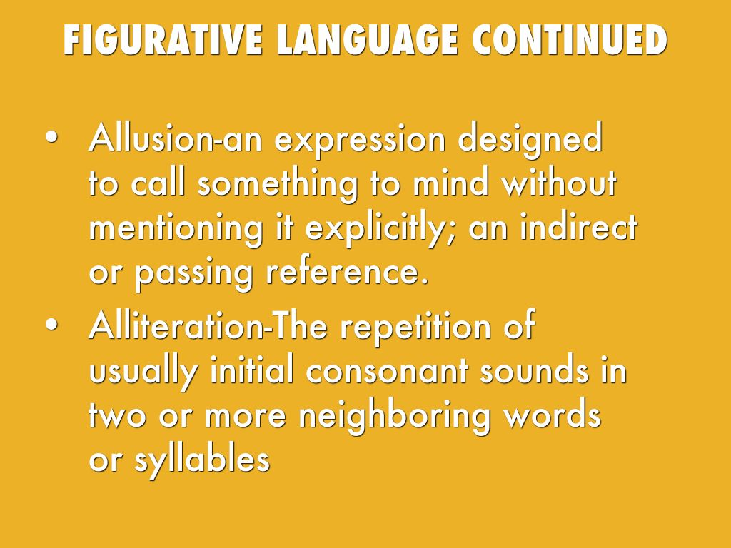 figurative language outliers