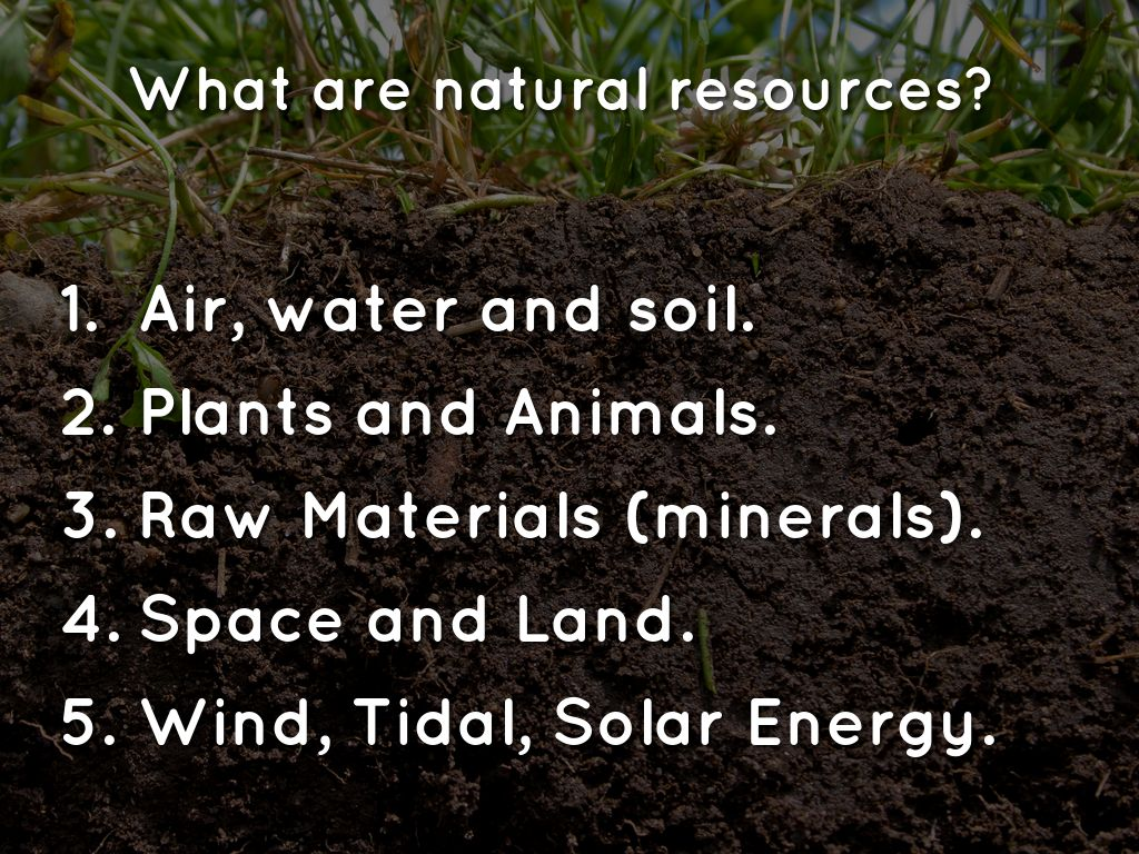 natural resources by gabriel goyo
