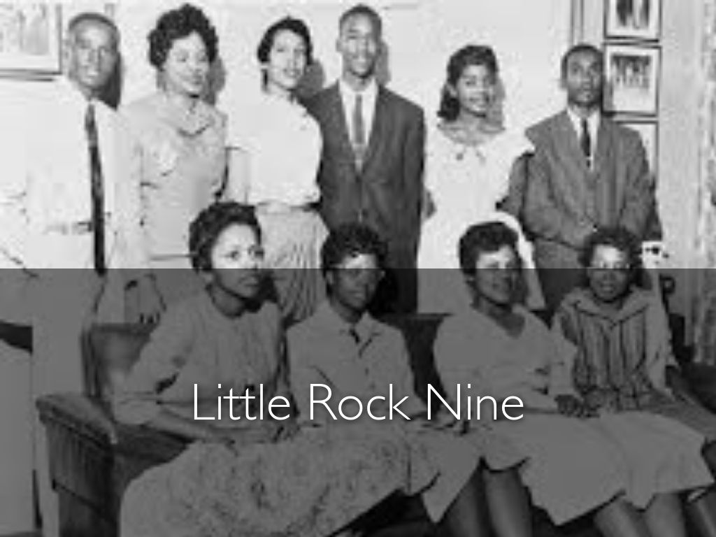 the little rock 9 Trickey was one of nine black students known as the little rock nine who tried  to integrate an all-white high school in arkansas after the.