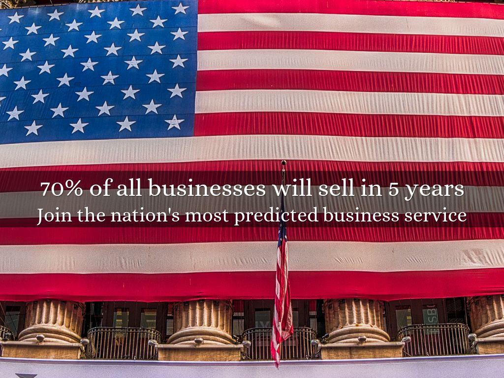 70% of all businesses will sell in 5 years