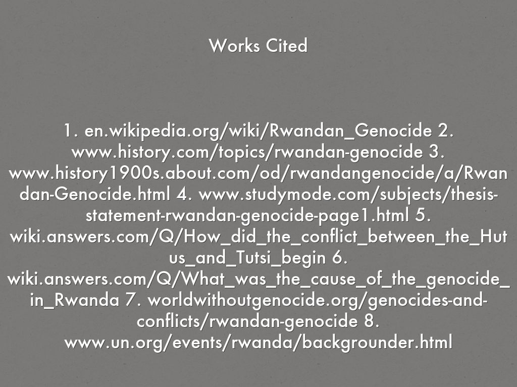 what is a good thesis statement for rwandan genocide