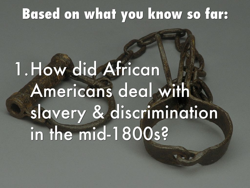 slavery in the mid 1800s